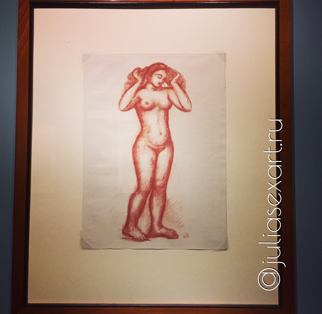«Nude woman seen from the front» («Figura femminile nuda di fronte»)