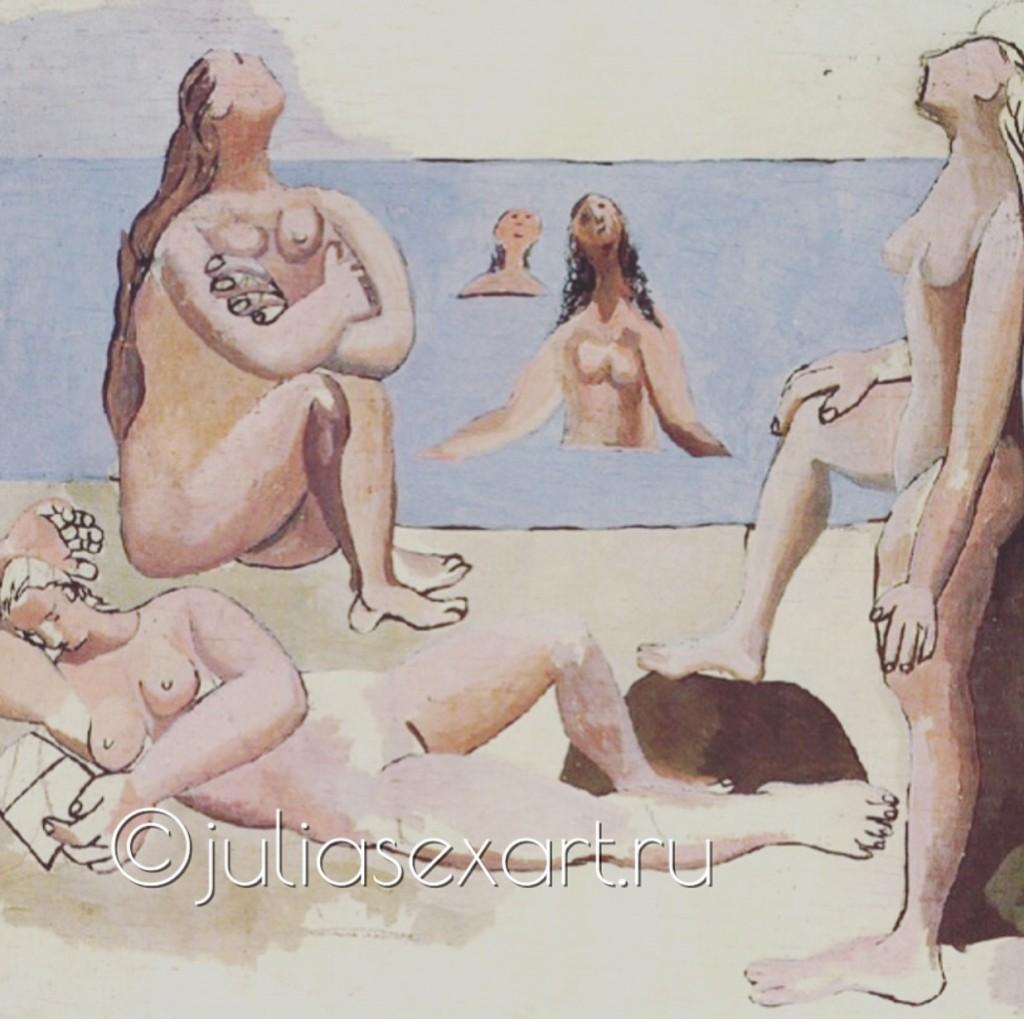 "фото - картина Пикассо ""пять купальщиц"""